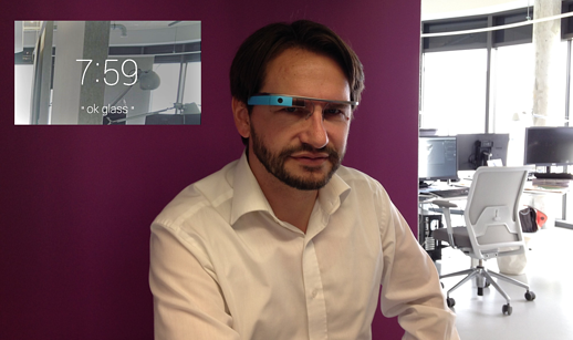 Google Glass Dirk Schart im Office