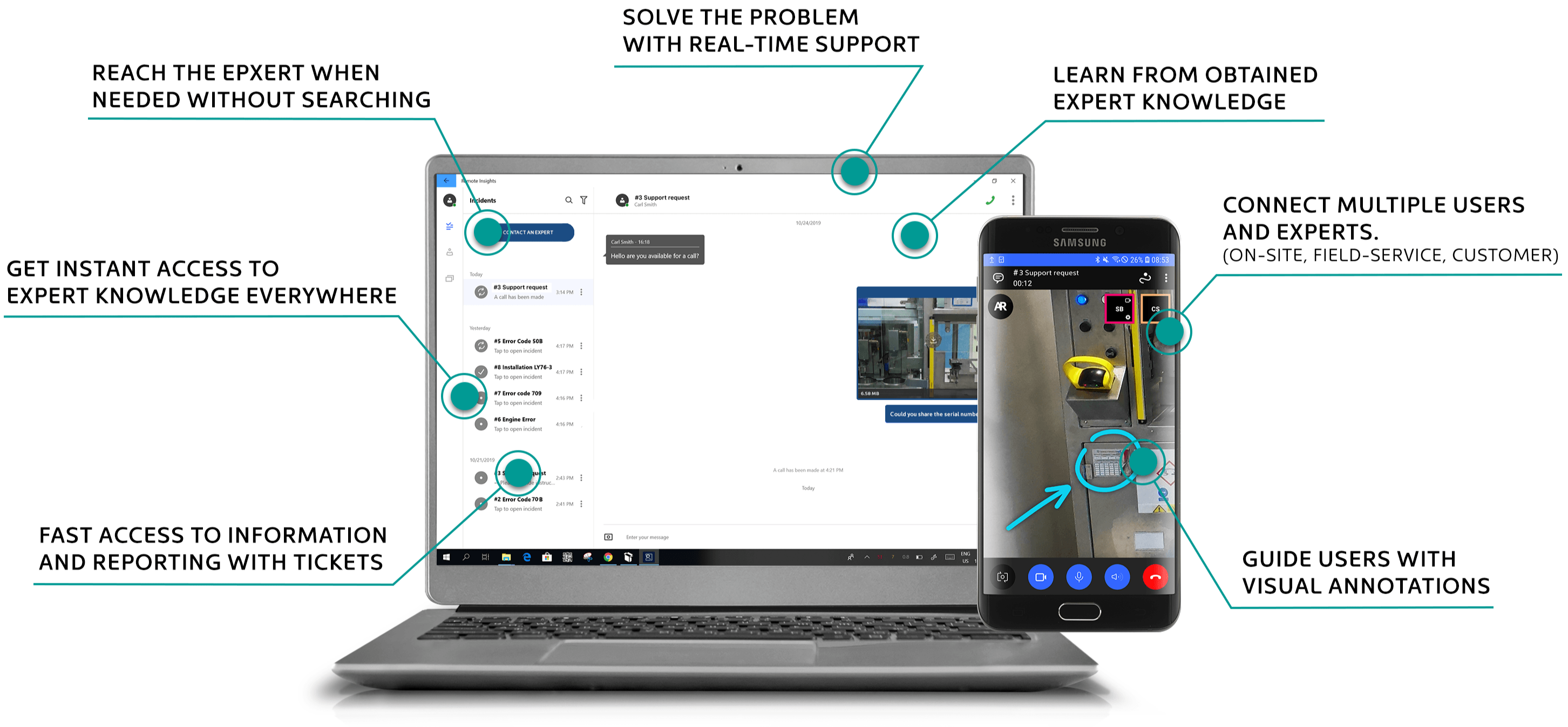 Remote support in manufacturing with augmented reality