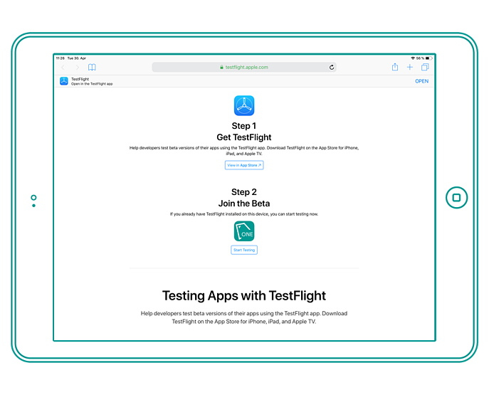 TestFlight Website